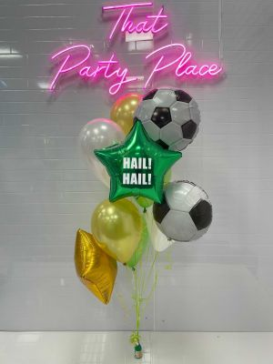Celtic Football Themed Cluster Bouquet